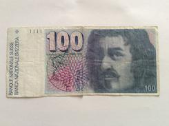 SVIZZERA SWITZERLAND SUISSE 100 FRANCS BORROMINI CIRCULATED - Suisse