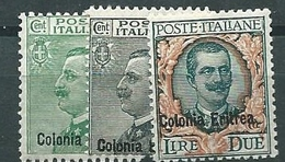 Colonie Italiane, Eritrea, Sassone 93/95 ** (Sass 550 E) - Eritrea