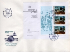 Azoren FDC Block 3 CEPT Historische Ereignisse Used Gestempelt