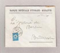 Mazedonien Monastir 23.9.1909 Drucksache Brief Nach Budapest