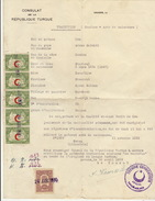 Consulat Turque à Anvers  Turquie Document Noufouz Acte De Naissance 1930 Timbré Cachet - Oude Documenten