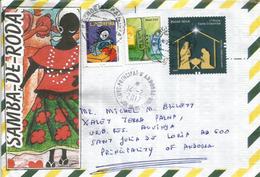 BRESIL.Special Traditional Afro-Brazilian Dance Samba De Roda.,lettre Adressée ANDORRA,avec Timbre à Date Arrivée