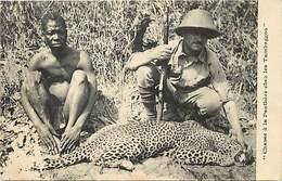 Pays Div- Ref H353- Afrique -chasse A La Panthere Chez Les Tambaggos *- Tchad  - - Chasse