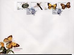 Azoren FDC Heftchenblatt 5 369 - 372 C Insekten Used Gestempelt