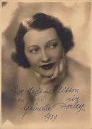 Grande Photo Gabrielle Dorley Pour Madame Misson 1939  23x16cm - Autographes