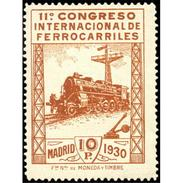 ES481FSGDEV-LFT***481F.España.Spa In.Espagne. CONGRESO  DE.FERROCARRILES.1930  (Ed 481F**),sin Charnela. - Nuevos