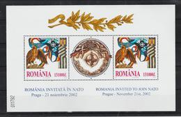 2004 - ROMANIA INVITED TO JOIN N.A.T.O. Mi No Bl 325