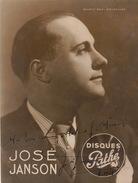 Grande Photo Autographe José Janson Disques Pathé  Pour Madame Misson...  Chanson Cinema Théatre 22x17cm