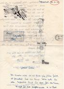 LETTRE D'UN MALGRES-NOUS LORRAIN - 5eme PZ. GREN. ERS. BATL. 115 - Décembre 1943  -  DARMSTADT - Old Paper