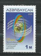 Azerbaijan 2006.Mi. 649 World Informational Society MNH - Azerbaïjan