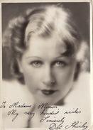 Photo Autographe Dot Shirley à Madame Misson Chanson Cinema Théatre 18x13cm