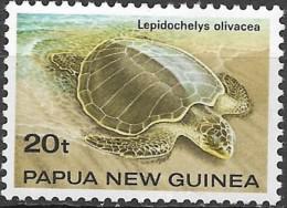 """PAPUA NEW GUINEA 1984 Turtles -   20t. - """"Lepidochelys Olivacea"""" FU - Papua Nuova Guinea"""