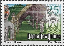 PAPUA NEW GUINEA 1973 Council House  - 25c Multicoloured MNG - Papua Nuova Guinea