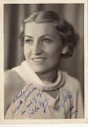 Photo Autographe 1937 ...? à Madame Misson Chanson Cinema Théatre 18x13cm - Autographes