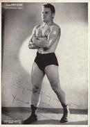 Photo Autographe Sport Catch Boxe ? Jean Fryziuk - Autographs
