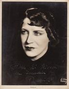 Grande Photo Autographe Damia Pour Madame Misson Opéra Chant Théâtre 23x17cm