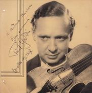 Grande Photo Autographe De Paul Godwin 1937 Violon Orchestre Opéra Chant Théâtre 20x20cm