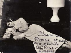 Grande Photo Par Lucien Duval Autographe De Suzanne Colin Opéra Chant Théâtre 23x18cm - Autographs