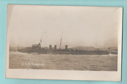 Navy Marina Militare Marine Navires Ships Regia Nave Torpediniera TURBINE - Guerra
