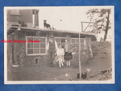Photo Ancienne Snapshot - Portrait De Famille Derriere Barbelés - 1929 - Ferme Poule & Chien Sur Le Toit - Dog Hund - Non Classés