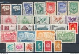 China Lot Aus Mi.-Nr.141/45o, 200/201, 212/14,249/252, 345/46,362/64o, 410/12,485 O  Feinst/pracht