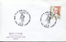 18607 Italia, Special Postmark 2001 Roma,  For The Match Roma Vs. Real Madrid Champions League
