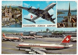 AVIAZIONE - AEREI - FLUGHAFEN ZURICH AIRPORT  - Vedi Retro - Aerodrome