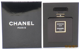 Cartes Parfumées Carte CHANEL COCO NOIR  RECTO VERSO LIQUATOUCH + ENVELOPPE   De CHANEL - Cartes Parfumées