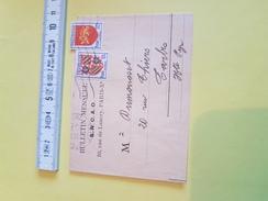"""1951 ?? / Bande Pour Journaux TB (encore Fermée) """"Bulletin Mensuel S.N.C.A.O. Rue De Lancry Pais X """"     (REF 76) - Journaux"""