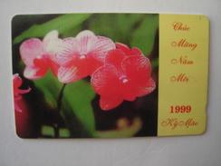 WIETNAM USED CARDS  FLOWERS ORCHIDS  2 SCAN - Vietnam