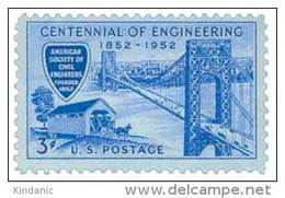 United States Scott # 1012 1952 3c Engineering Centennia MNH This Is A Stock Photo - Unused Stamps