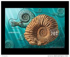 2015 Switzerland / Schweiz - Ammonite - MS - Paper With Congnv. Print - MNH**