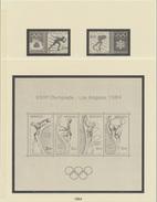 Monaco Lindner 1984 Sans/ohne/without Timbres 7 Pages - Pré-Imprimés