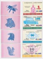 1998 // SIBERIE //  5, 10, 50 & 100 ROUBLES // PLASTIC // UNC - Rusia