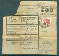 """Vrachtbrief (geplooid/plié) Met Halve Zegel TR 204 (colis Militaire) - Cachet """"BONSECOURS""""  -  (ref. Nr 261) - Chemins De Fer"""