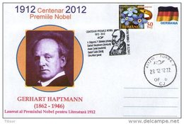 The Nobel Prize In Literature 1912-2012 Centenary. Gerhart  Hauptmann.
