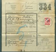 """Vrachtbrief (geplooid/plié) Met Halve Zegel TR 204 (colis Militaire) - Cachet """"ANDENNE"""" Litt. B  -  (ref. Nr 262) - Chemins De Fer"""
