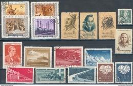 China -Volksrepublik Lot Mit 18 Werten Aus Den Jahren 1955-1957 O, Feinst/pracht
