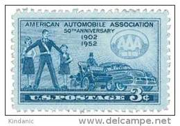 United States Scott # 1007 1952 3c American Automotive Association MNH This Is A Stock Photo - United States