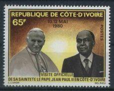 1980 Costa D'Avorio, Visita Apostolica Papa Giovanni Paolo II°, Serie Completa Nuova (**) - Costa D'Avorio (1960-...)