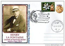 The Nobel Peace Prize 1913 -2013 Centenary. Henri La Fontaine.