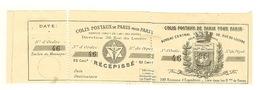Colis Postaux De Paris Pour Paris 1892 N°9 25cts Noir Sur Blanc,neuf Charn.