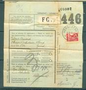 """Vrachtbrief (geplooid/plié) Met Halve Zegel TR 204 (colis Militaire) - Cachet  """"HERBESTHAL"""" - (ref. Nr 271) - Chemins De Fer"""