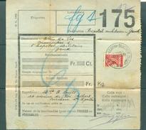 """Vrachtbrief (geplooid/plié) Met Halve Zegel TR 204 (colis Militaire) - Cachet  """"ST-AGATHA-BERCHEM"""" - (ref. Nr 272) - Chemins De Fer"""