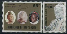 1980 Alto Volta, Visita Apostolica Papa Giovanni Paolo II°, Serie Completa Nuova (**) - Alto Volta (1958-1984)