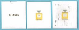 Cartes Parfumées Carte CHANEL N°5   De CHANEL AVEC POCHETTE   RECTO VERSO - Modern (from 1961)