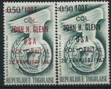 1962 Spazio, Volo Orbitale  Col. John Glenn, Serie Completa Nuova (**)