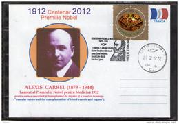 The Nobel Prize In  Medicine 1912-2012 Centenary. Alexis Carrel.