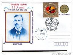 110 Years Nobel Prize - Ernest Rutheford - Nobel Prize In Chemistry 1908. Turda 2010.