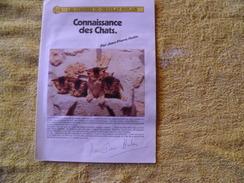 Dossiers Connaissances Chocolat Poulain, Connaissances Des Chats. - Poulain